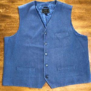 JoS A Bank Reserve Traditional Fit Blue Vest - XXL